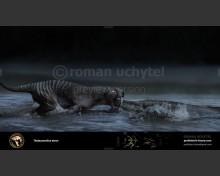 Thylacosmilus (white background)